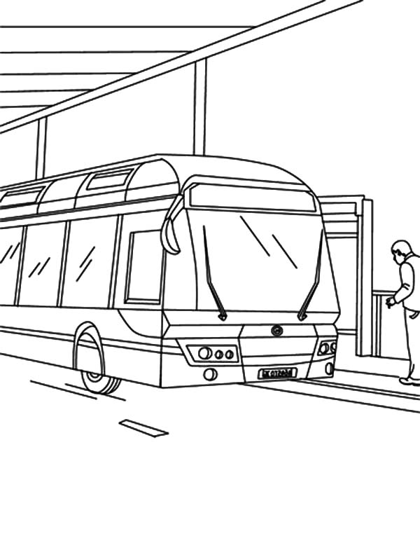 City Bus At Gas Station Coloring Pages Netart Gas Station Coloring Pages Bus
