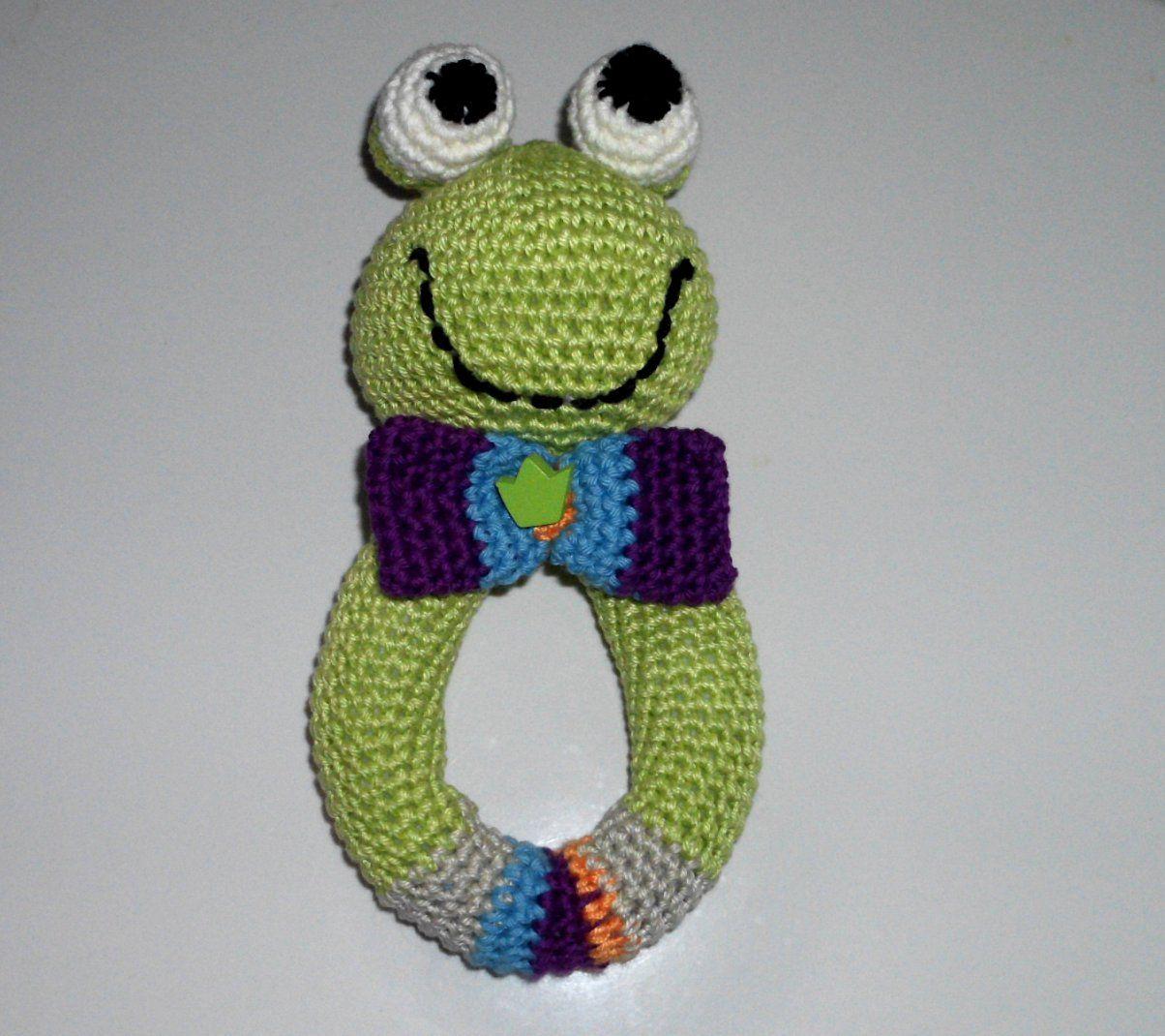 Greifling Fröschl Häkeln Crochet Baby Crochet Und Knit Crochet