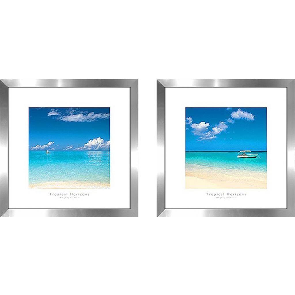 Tropical horizons iiu wall art set of matching set uw x uh