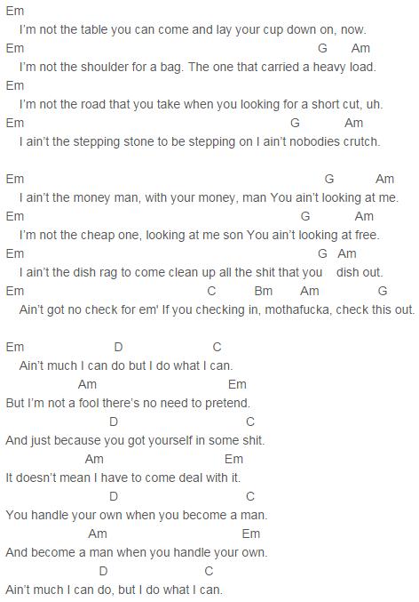 Yelawolf - Till It\'s Gone Chords | Yelawolf | Pinterest | Songs ...