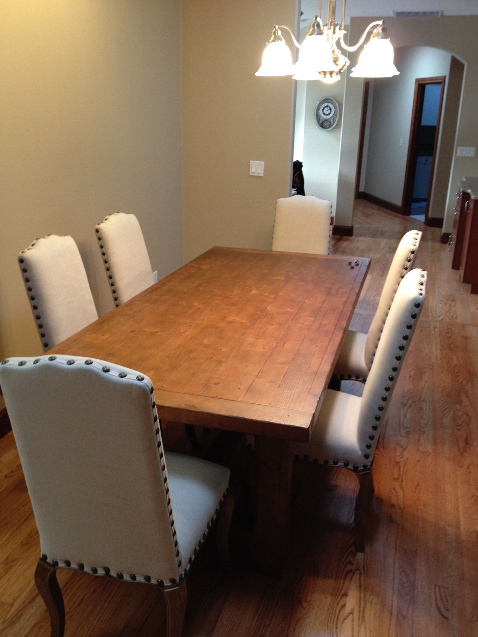 Nw pottery barn calais dining chairs sumner dining table delivered assembled by r a d llc