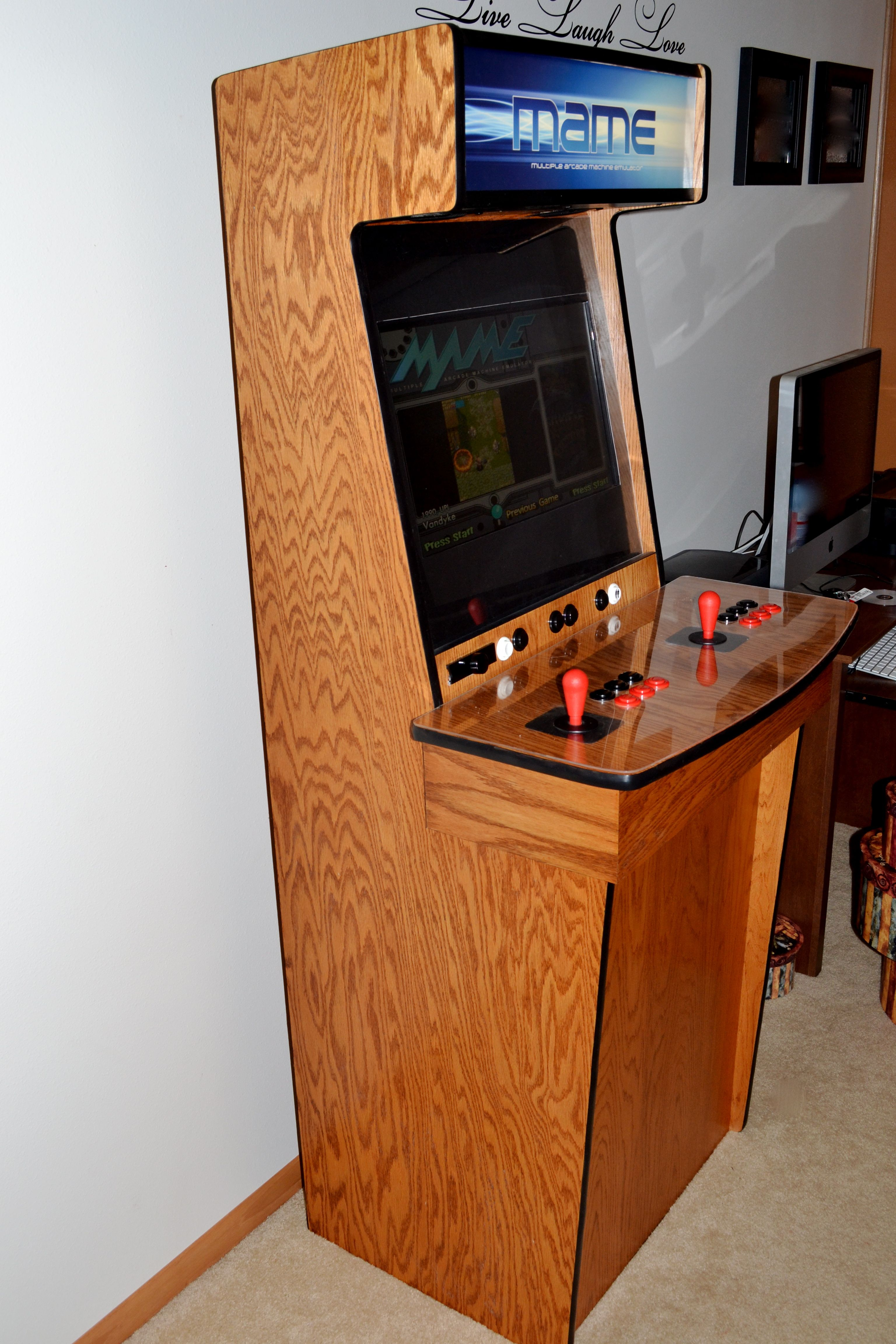 Arcade Cabinet Dimensions Diy Mame Arcade Cabinet Plans Cabinets Matttroy