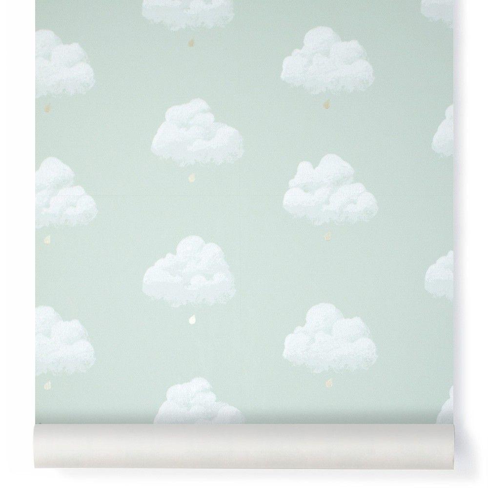 Cotton Clouds Wallpaper Sea Green Wallpapaer Pinterest