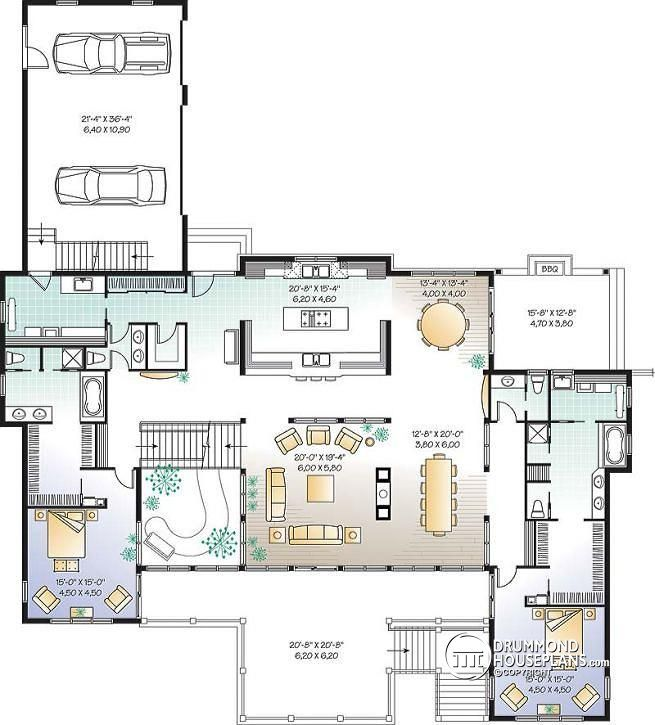 House Plans With Indoor Pool: Luxurious Traditional Chalet With Indoor Pool