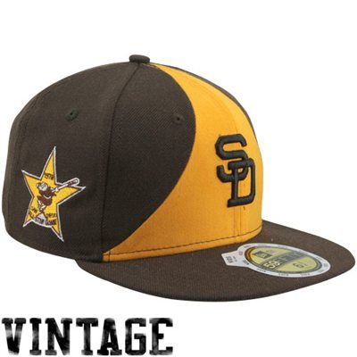 san diego padres hat brown new era all star patch fitted 1984 cap