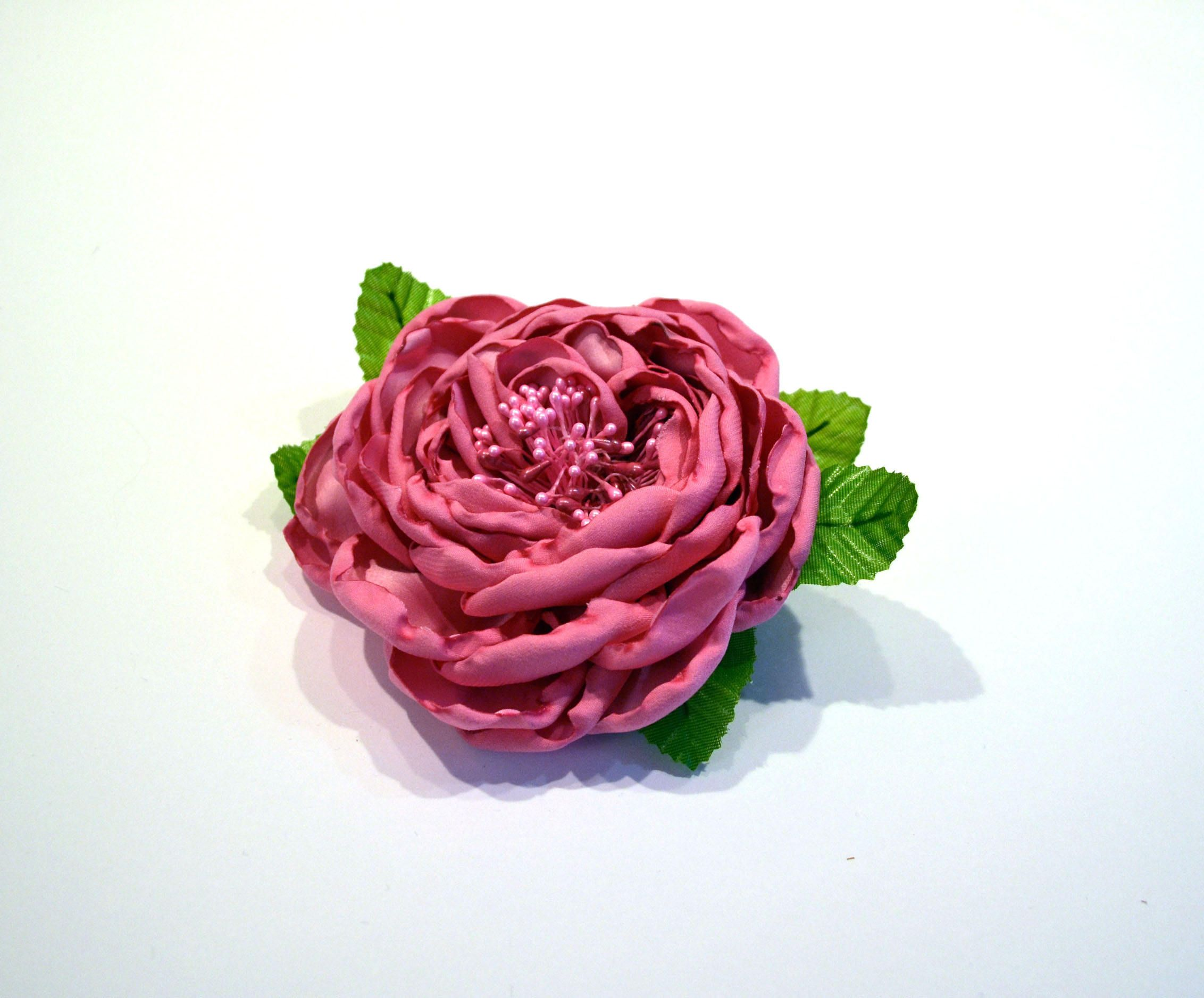 Silk floral fuchsia pink rose brooch handmade flower pin roses silk floral fuchsia pink rose brooch handmade flower pin roses summer with boutonniere brooches romantic wedding mightylinksfo