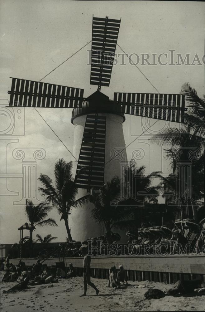 1930 Press Photo Windmill Creates A Bit Of Holland At Miami Beach Florida Ebay