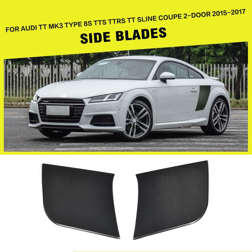 Carbon Fiber Side Blades For Audi Tt Mk3 Type 8s Tts Ttrs Tt Sline 2 2001  Audi Fuse Box Location Audi Tt Mk3 Fuse Box Location