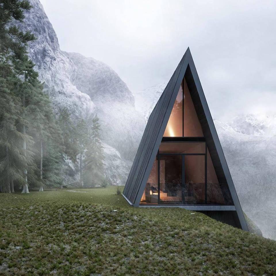 A frame cabin designed by Matthias Arndt                                                                                                                                                                                 More