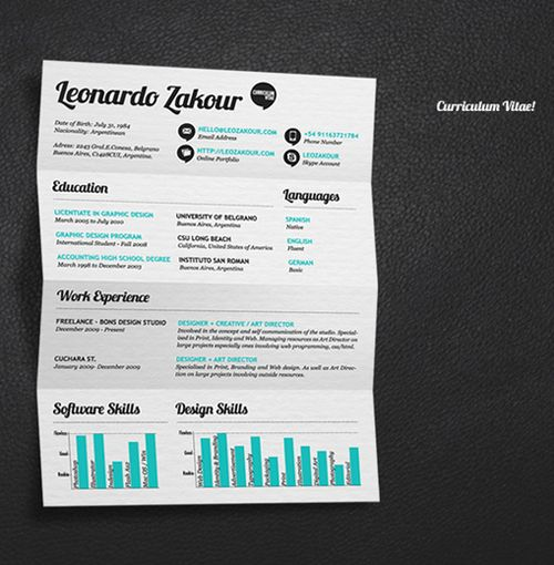 Great Resume Designs that Catch Attention and Got People Hired - one day resume