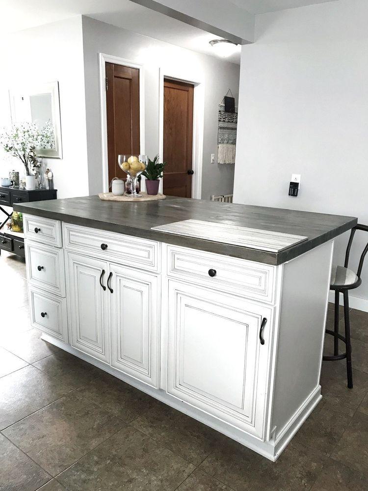 DIY Kitchen Island With Stock Cabinets | Diy kitchen ...