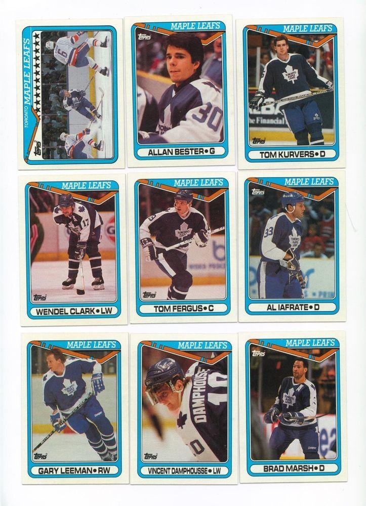 199091 topps toronto maple leafs hockey card team set
