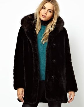 Parka London Hazel Faux Fur Coat with Contrast Fur Hood | Cold ...