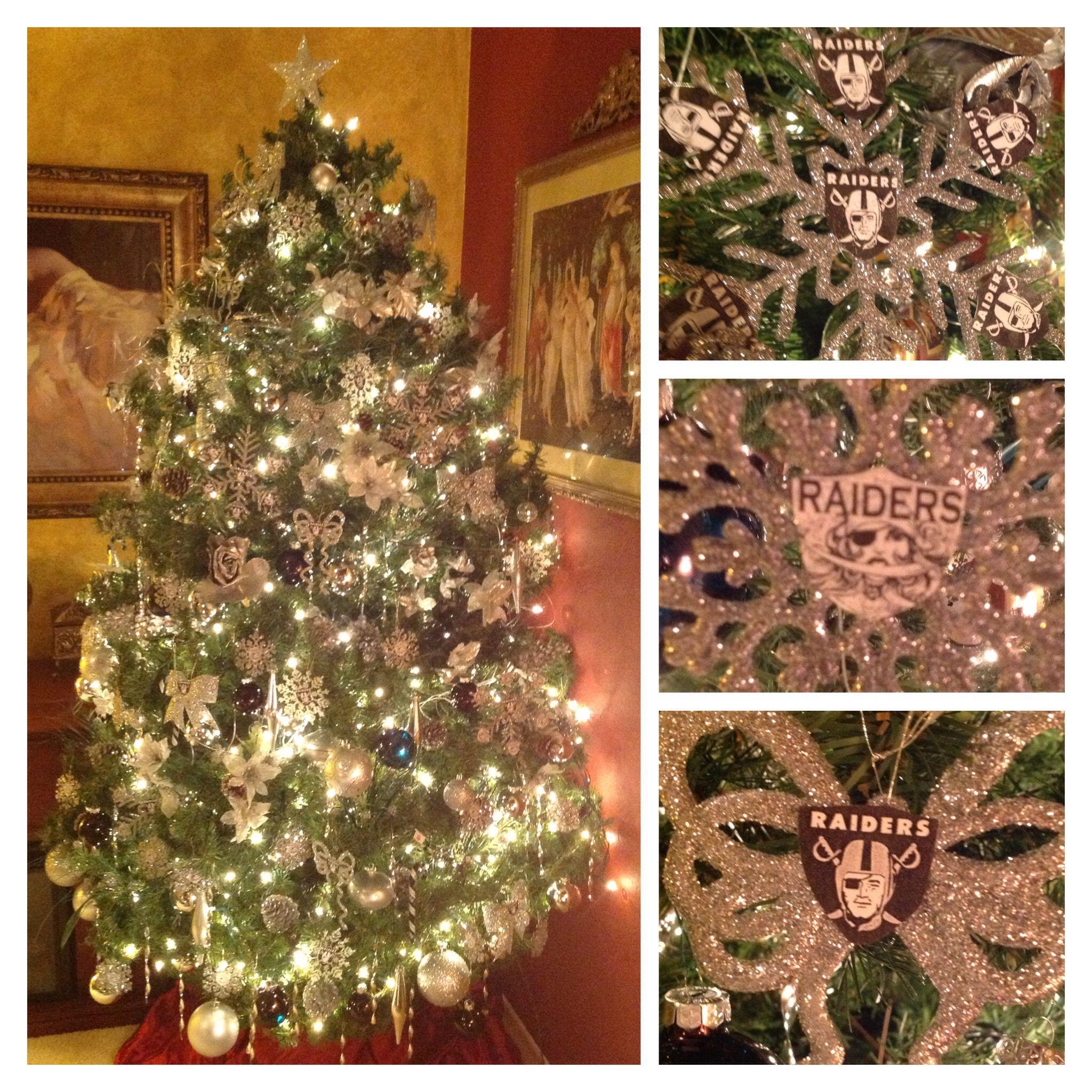 Raiders Christmas Tree  Decoration  Pinterest  Raiders