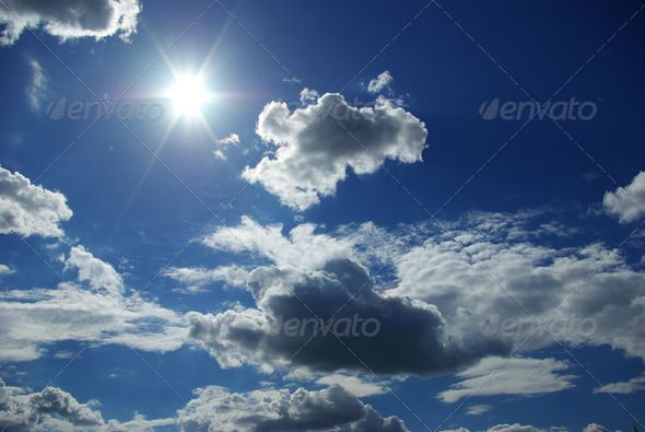 clouds background, basic, blue, clouds, cloudy, global, heaven - basic blue background