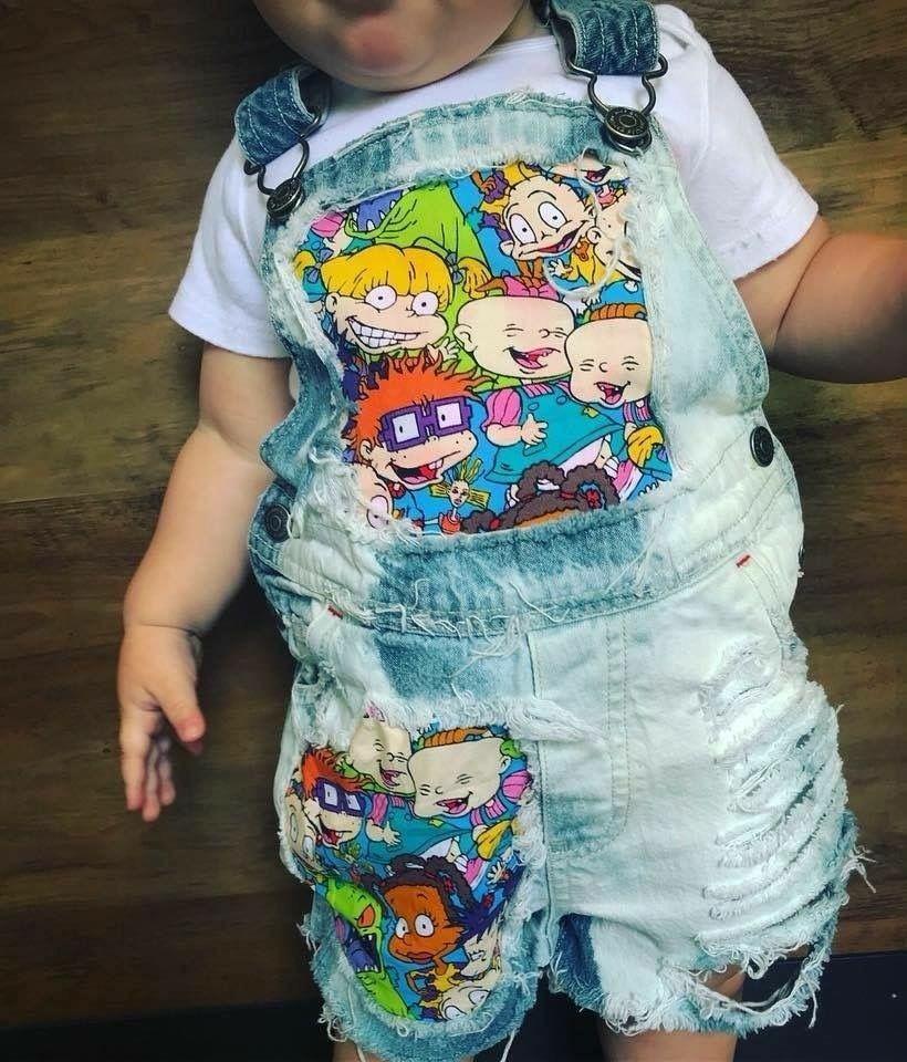 Infant Farmer Overalls Halloween Costume Baby Fine Jersey Tee
