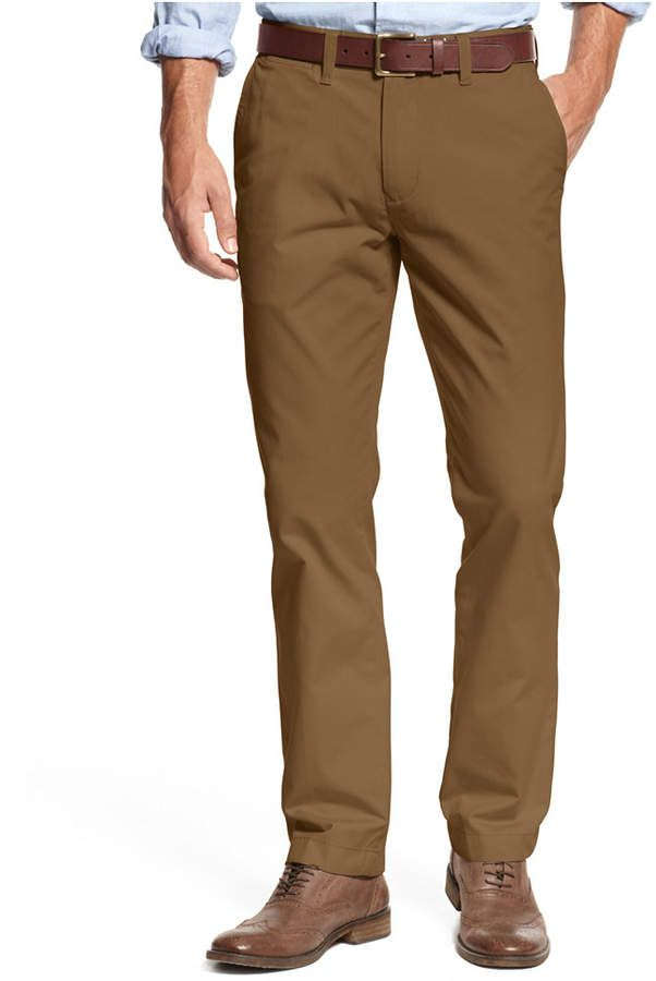 Tommy Hilfiger Men's Custom Fit Chino Pants, Created for