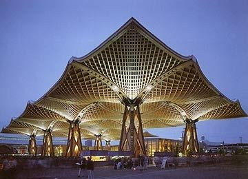 A Giant Structural Wood Roof In Hannover Germany Was