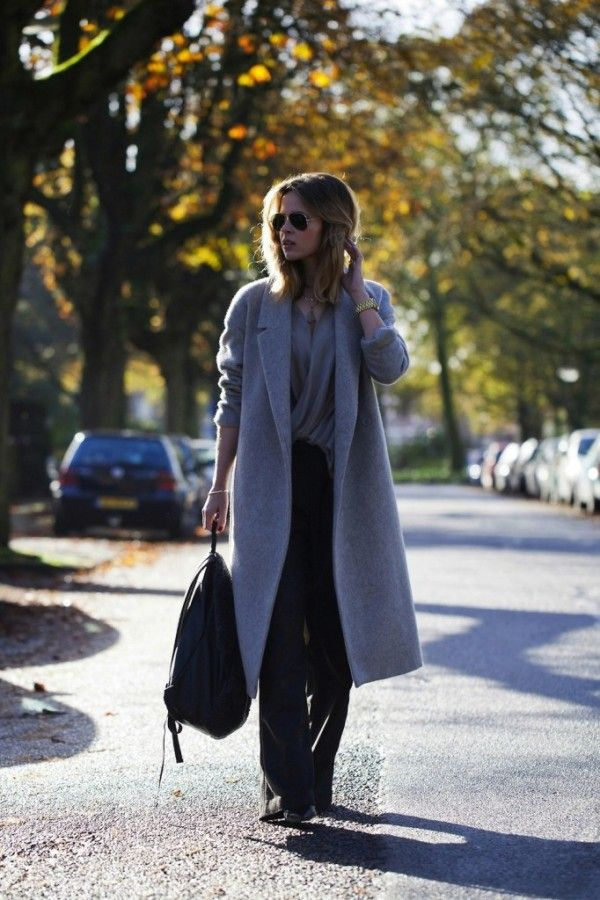 14 Oversized Grey Coats For Women to Stay Warm and Look Chic