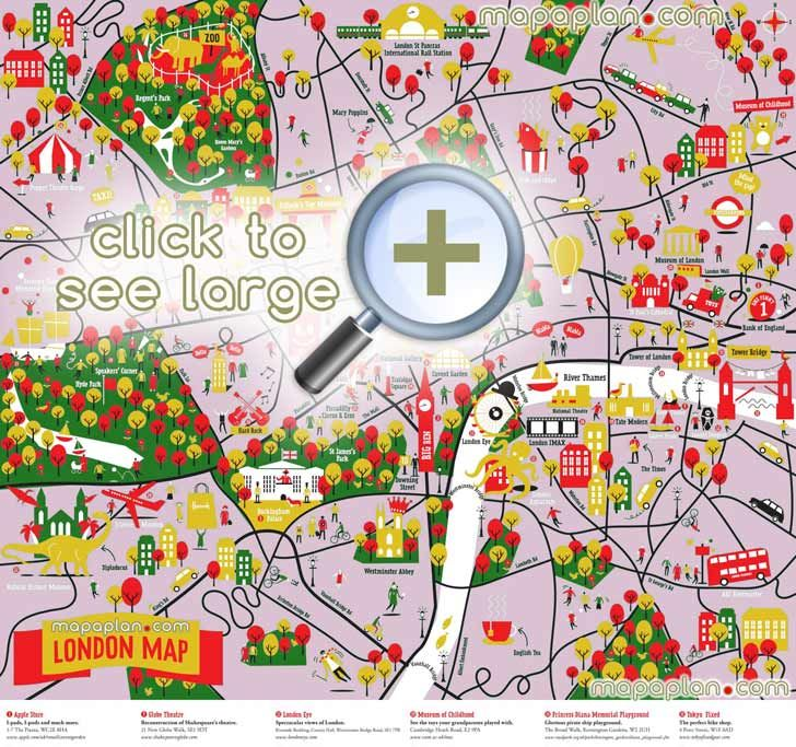 colourful great family things do kidss london top tourist attractions map