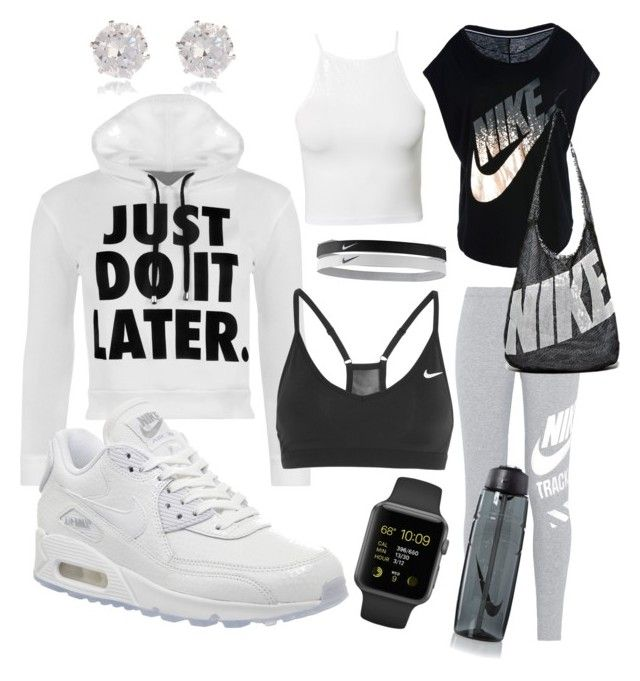 Gym ready by vanessa517 on Polyvore featuring polyvore, moda, style, WearAll, NIKE, NLY Trend and River Island