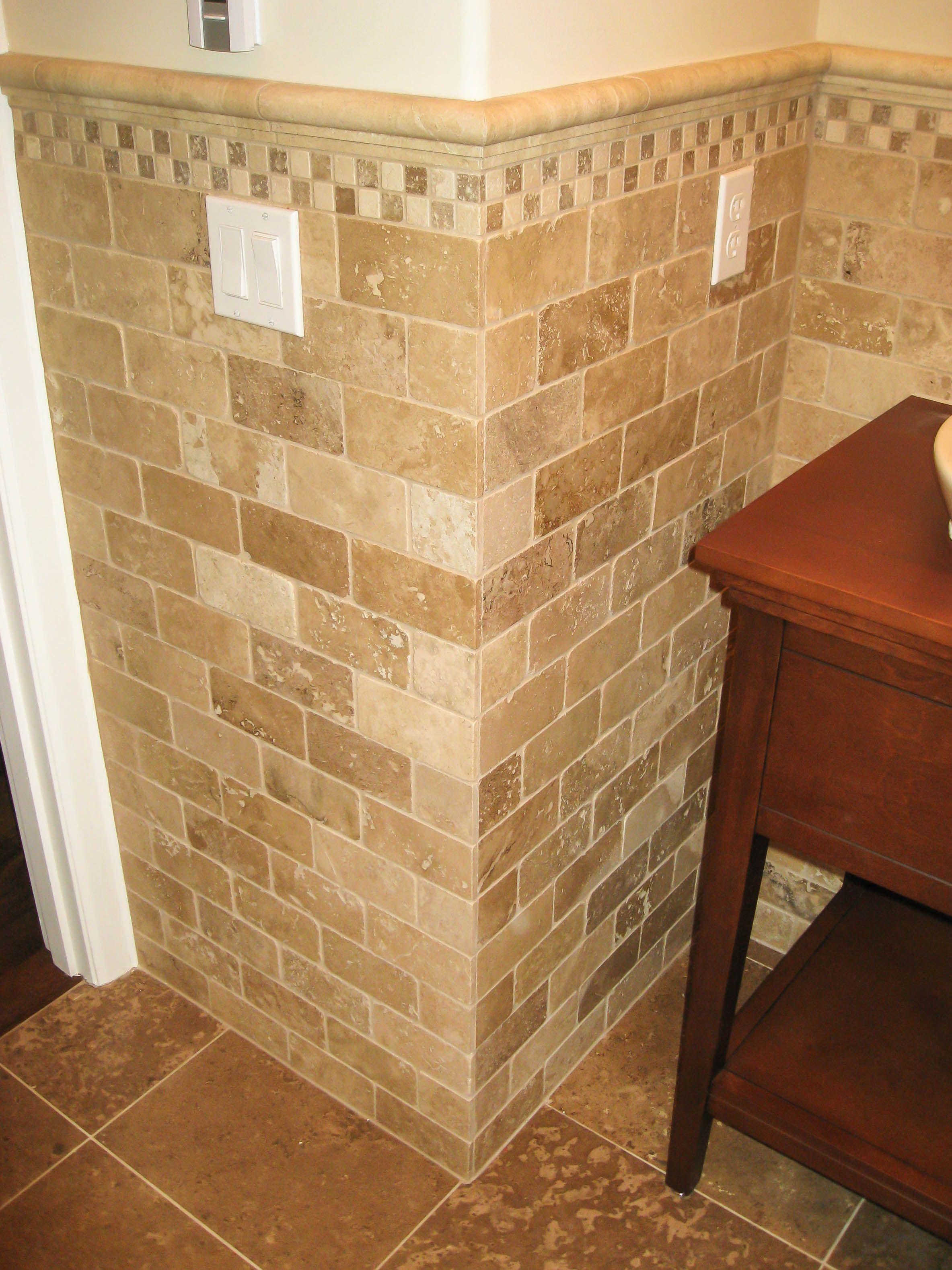 Bathroom tile wainscoting | ideas | Pinterest | Bathroom, Tile and ...