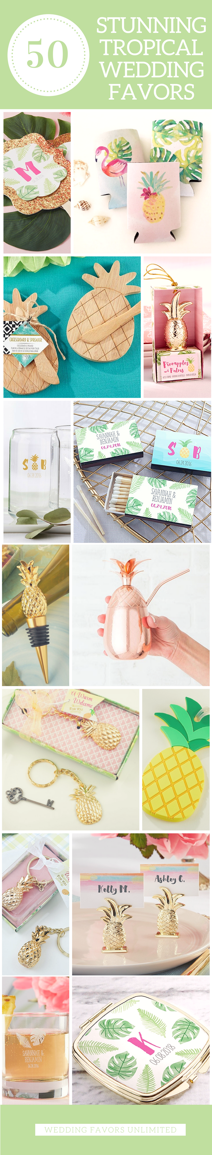 50 Stunning Tropical Wedding Favors To Slay The Summer - Check out ...