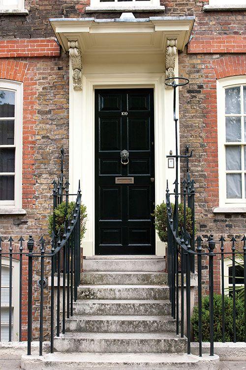 Farrow Ball Door In Pitch Black No 256 Exterior