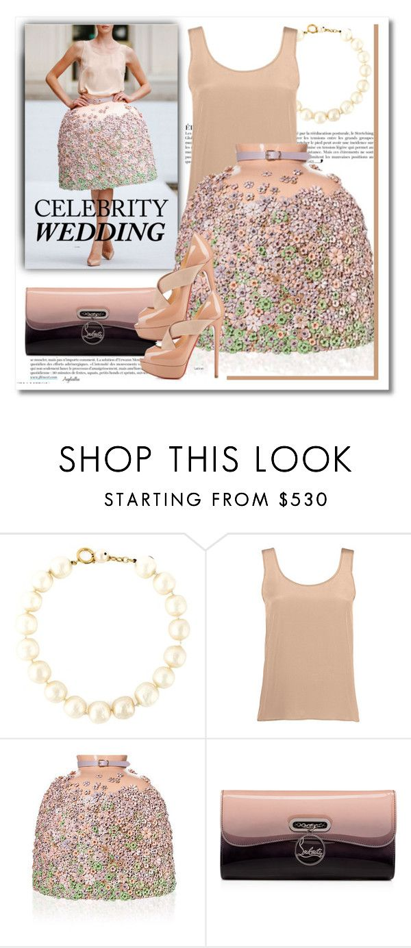 """""""Doce Paixão"""" by angelicallxx ❤ liked on Polyvore featuring Anja, Chanel, Christian Louboutin and CelebrityWedding"""