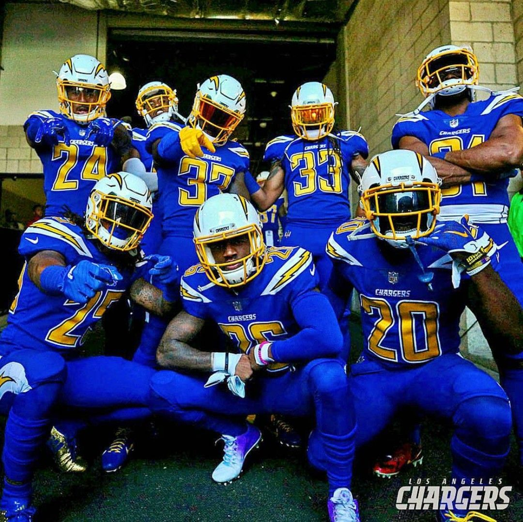Los Angeles Chargers Color Rush Uniform Football Chargers Football American Football