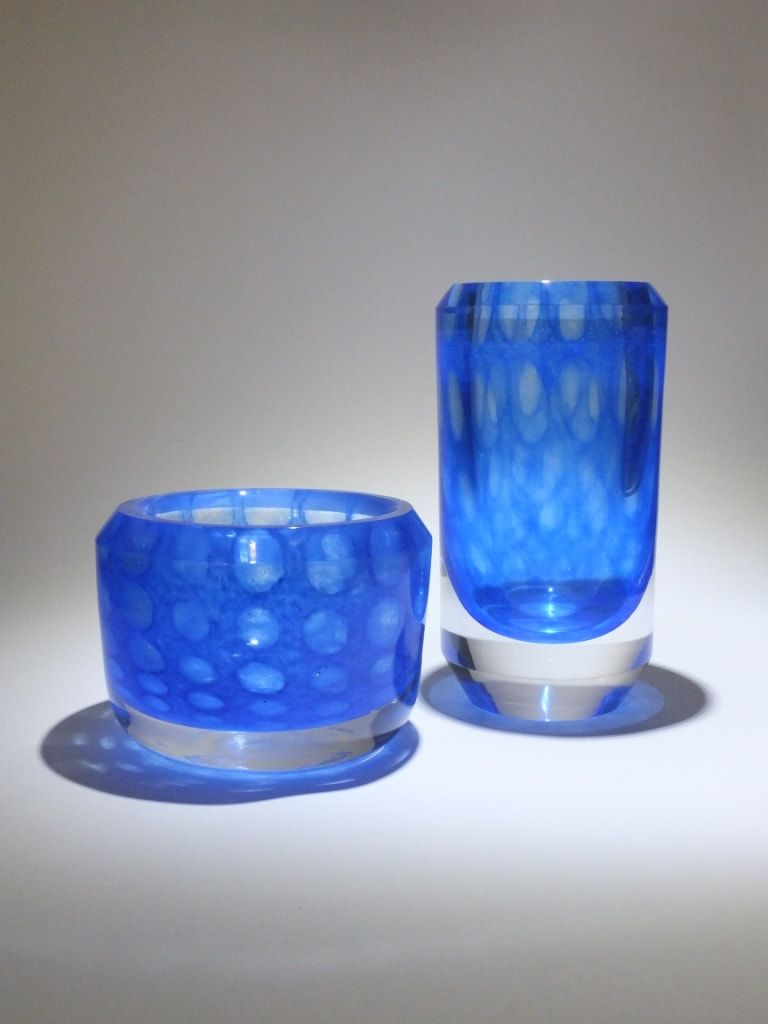 A magnificent bowl and vase by vicke lindstrand for kosta sweden