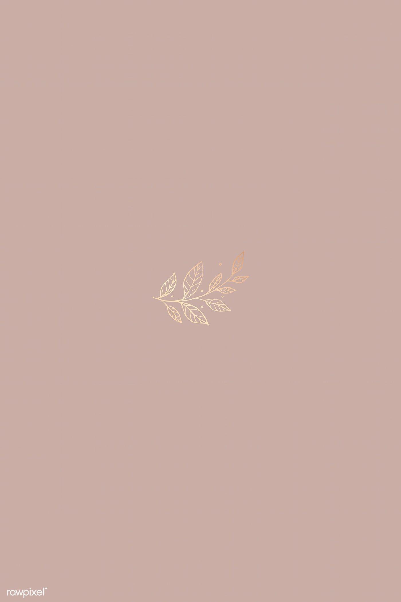 Download free vector of Gold doodle leaf design element vector 843843