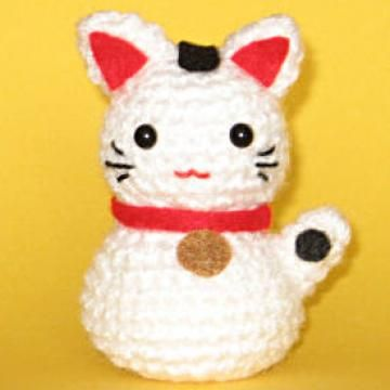 Onni the Beckoning Cat amigurumi pattern