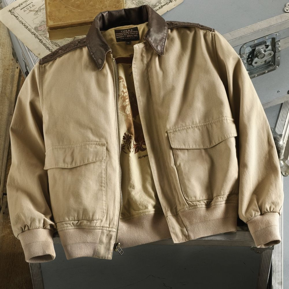 Pacific Theater A2 Cotton Bomber Jacket National
