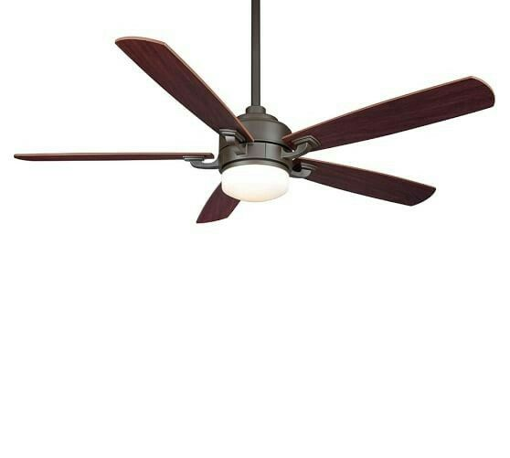 The fanimation benito ceiling fan provides soothing cool air and soft lighting and has a contemporary look that fits in with any decor style