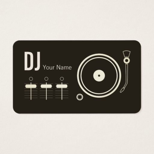 Modern Professional Dj Record Player Cover Business Card Zazzle Com Dj Record Dj Business Cards Professional Dj