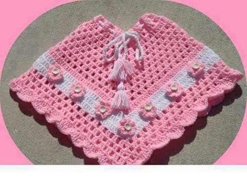 Poncho croche | tejidos | Pinterest | Abi, Babykleidung und Babysachen