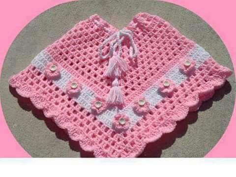 Poncho croche | Crochet baby, toddler, child | Pinterest | Crochet ...