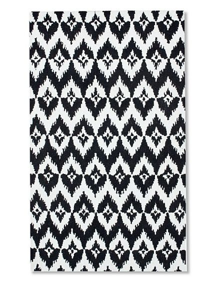 Chevy Ikat rug. Hand-made of the finest wool. modern geometric ikat design.