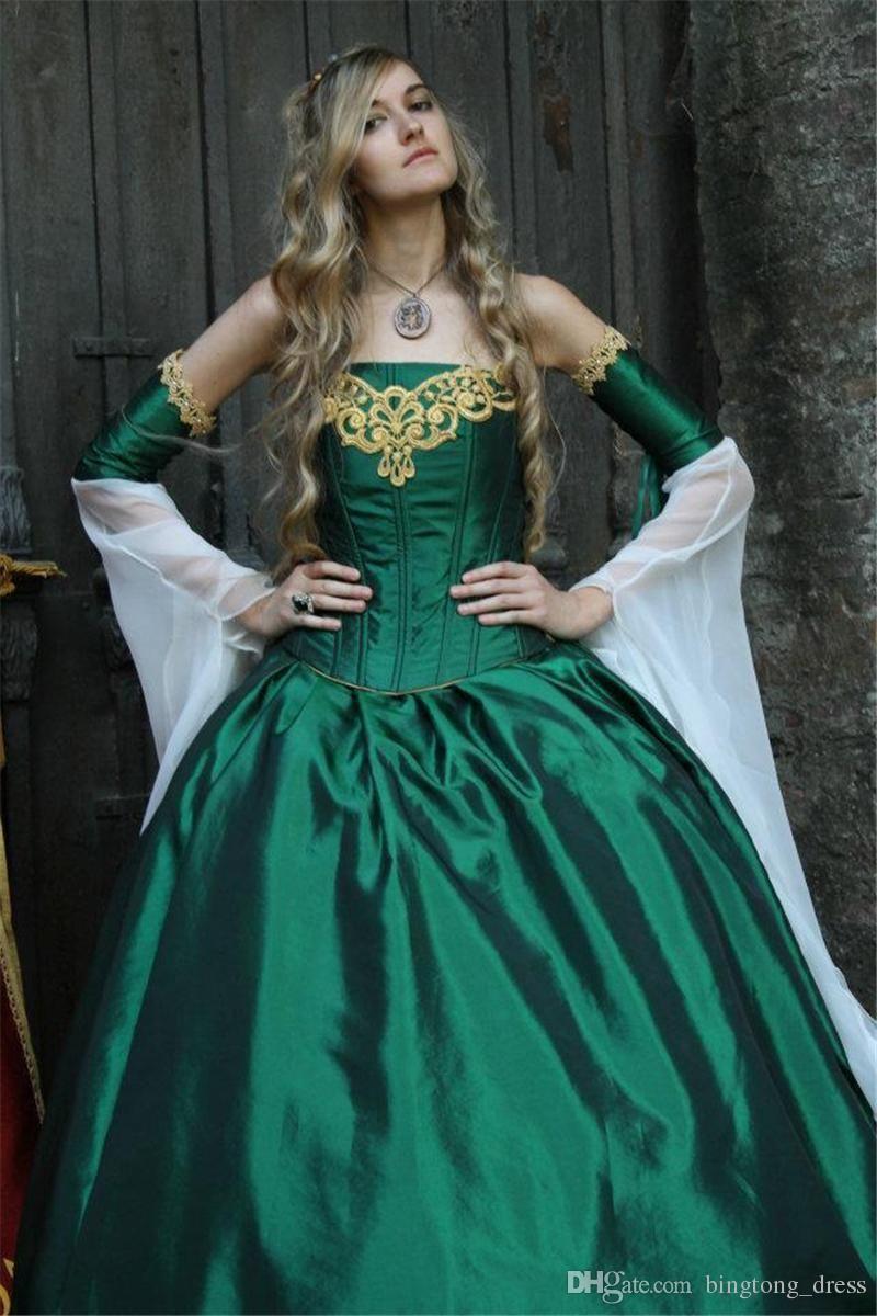 2016 Gothic Wedding Dresses Halloween Victorian Bridal Gowns ...