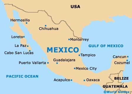 Mexico Map Places
