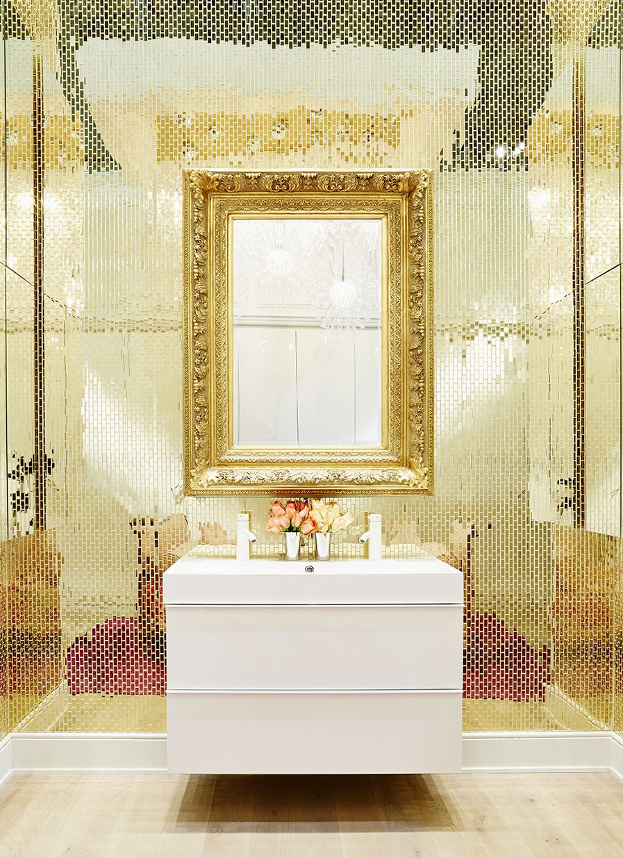 You Won\'t Believe Who Designed This | White vanity, High gloss and ...
