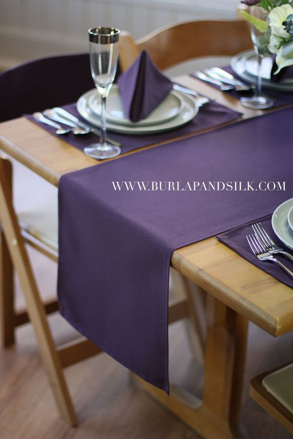 14 X 108 Inches Plum Table Runner