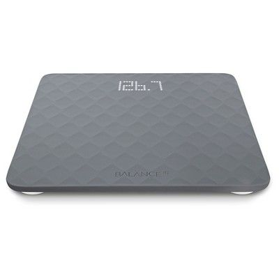 Image Of Designer Bathroom Scale with Textured Silicone Cover Grey Balance