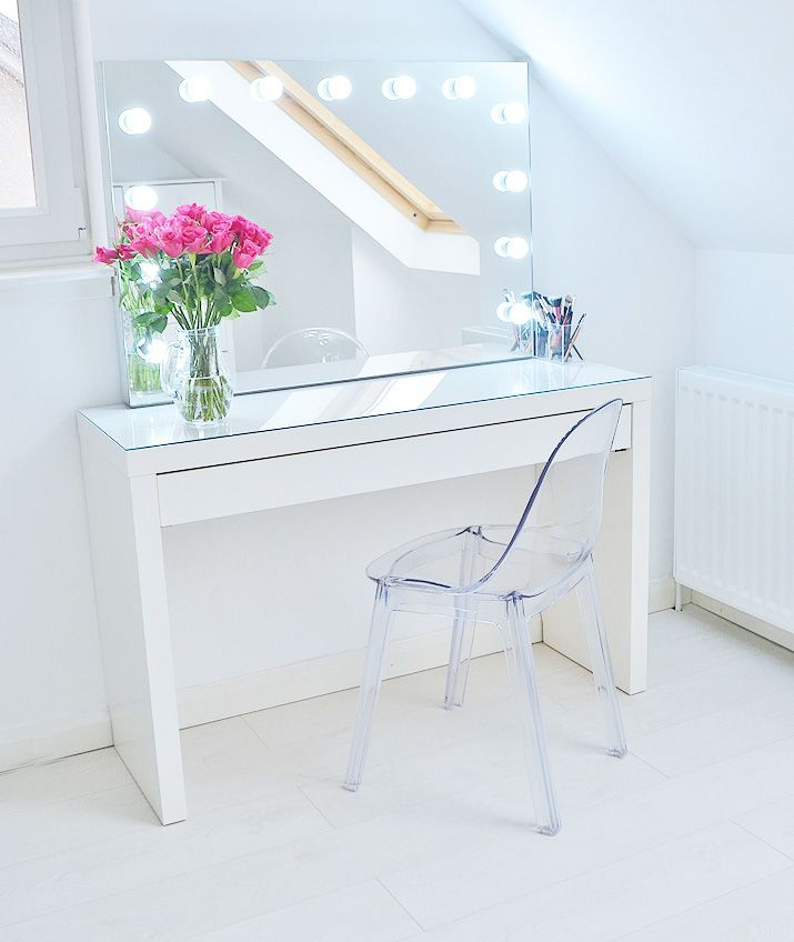 Makeup Storage Ideas Ikea Malm Makeup Vanity With Mirror All