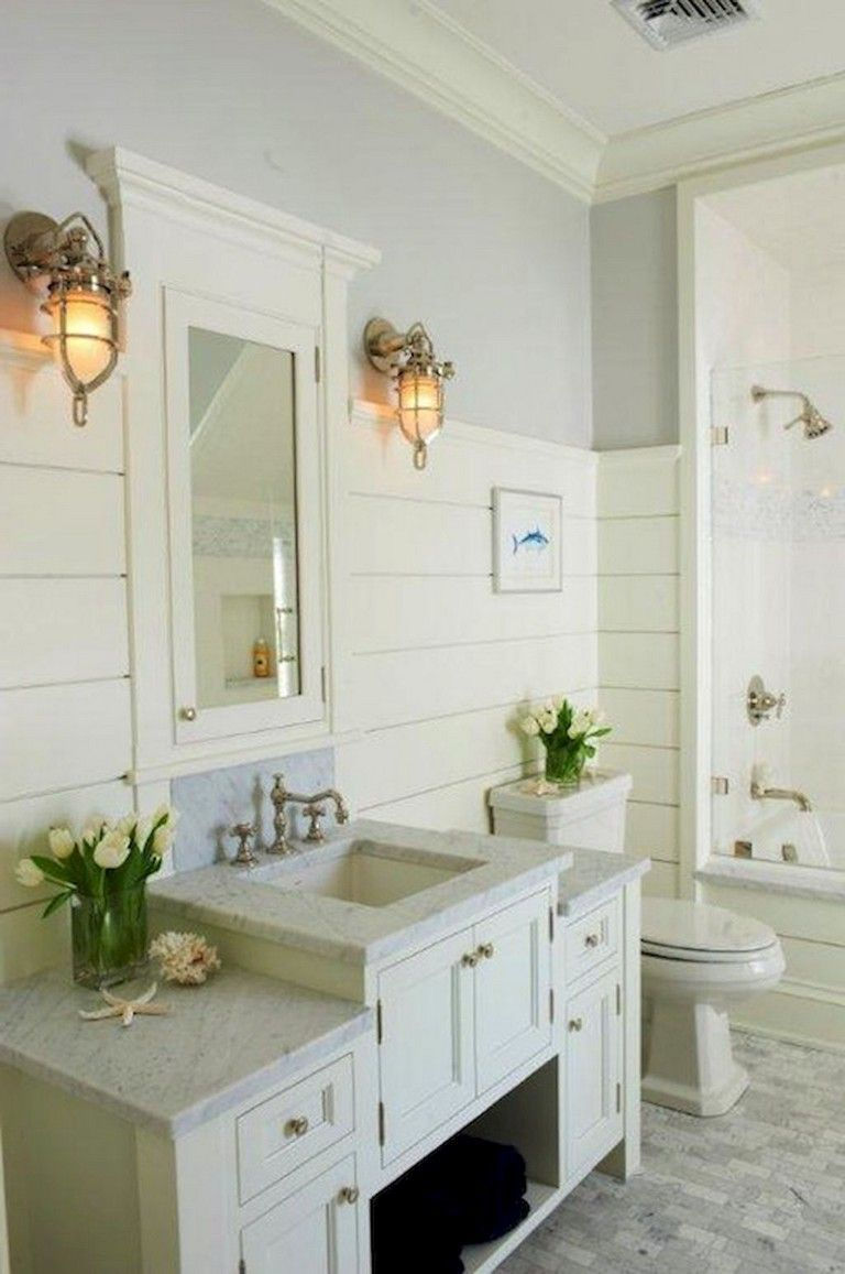 59 Gorgeous Coastal Beach Bathroom Decoration Ideas Bathroom Bathroomdecorating Bathroomdecoratingideas Beach Bathroom Decor Beach Bathrooms Bathroom Decor