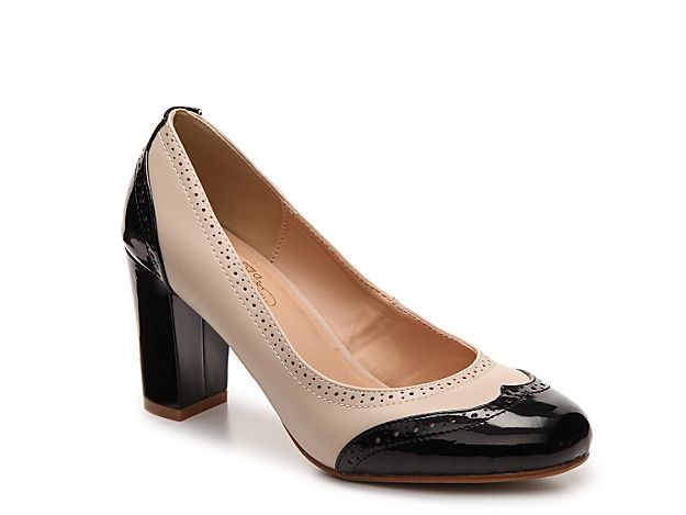 Women Sami Pump -Nude/Black