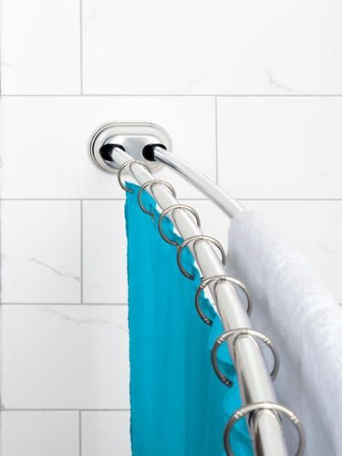 Zenna Home Neverrust Trade Aluminum Double Tension Curved Shower Rod