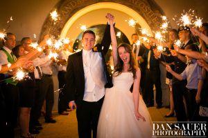Sparkler exit | Arizona wedding | #SaintAndrews | Tempe Phoenix #DanSauerPhotography