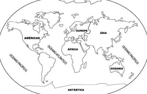 Resultado de imagem para planisferio dos continentes e
